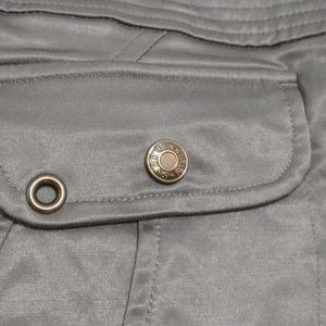 Guess Skirts - Guess Silver Metallic Zip Up Sexy Skirt